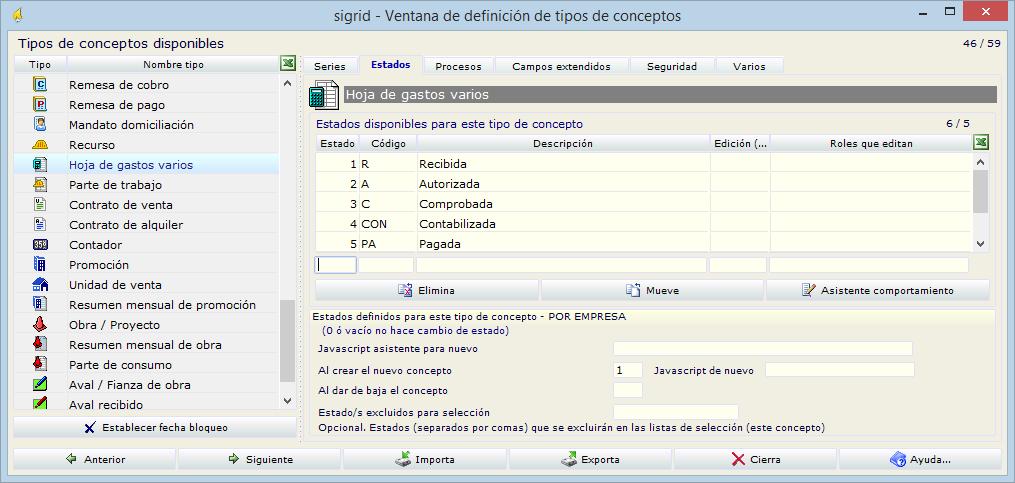 Guía de usuario > Hojas de gastos > Configuración de las Hojas de gastos