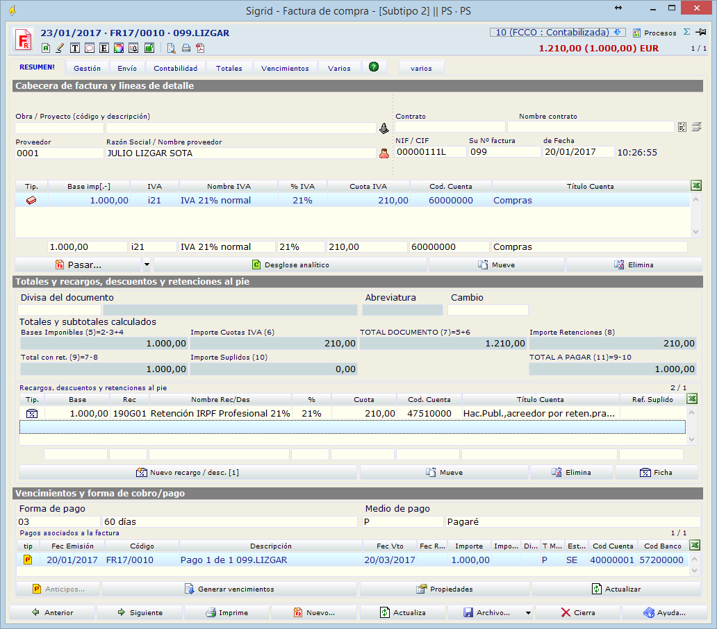 Guía de usuario > Personalizar Sigrid > Parámetros de la empresa